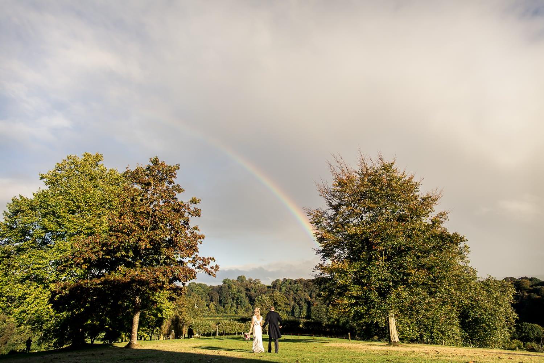 Rainbow at Sharpham house