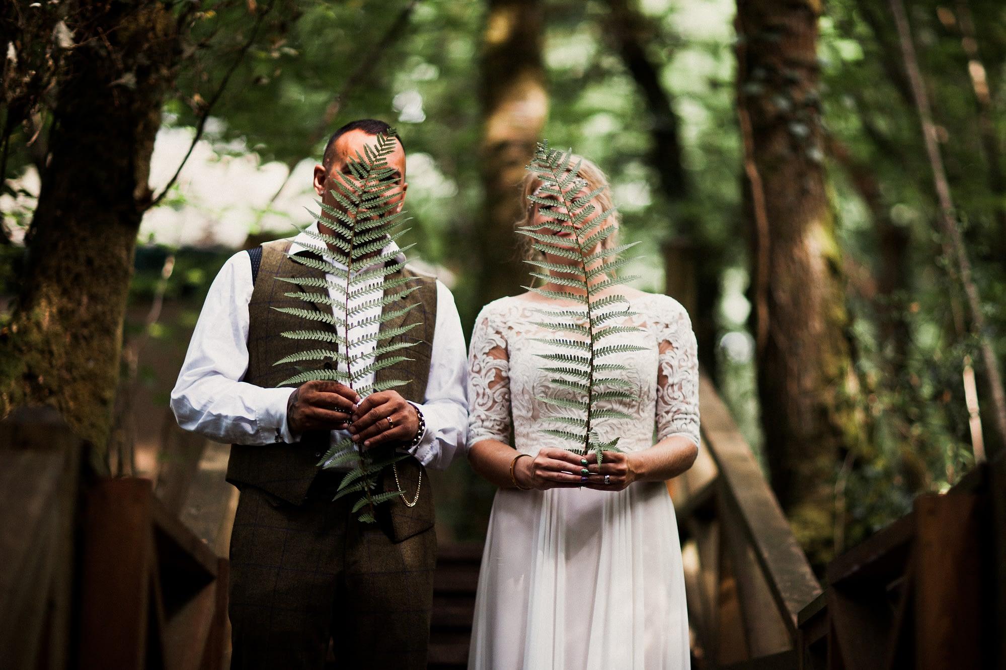 Woodland wedding, Yurt camp, Liverton