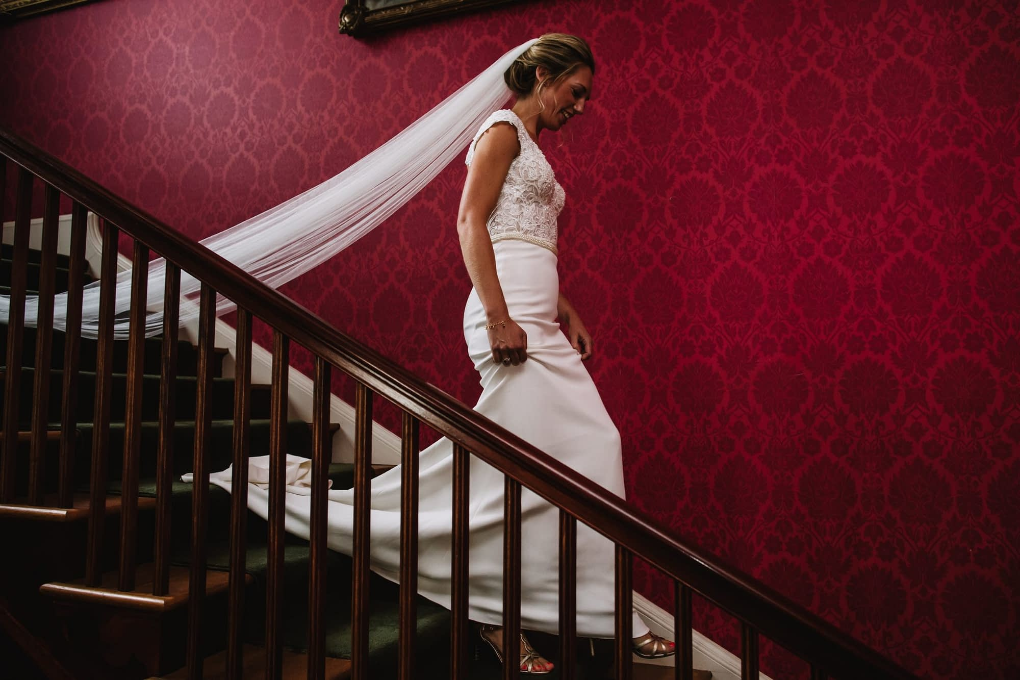 Bridwell wedding, Red staircase